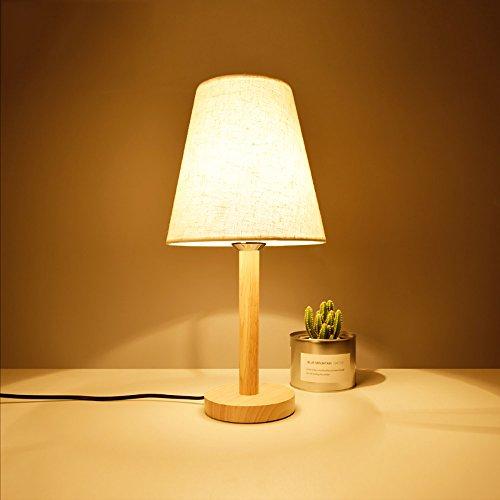 TOYM UK Lampe de chambre à coucher en bois massif de style japonais moderne simple créatif