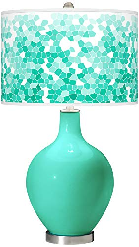 hp table lamps Turquoise Mosaic Giclee OVO Table Lamp - Color + Plus