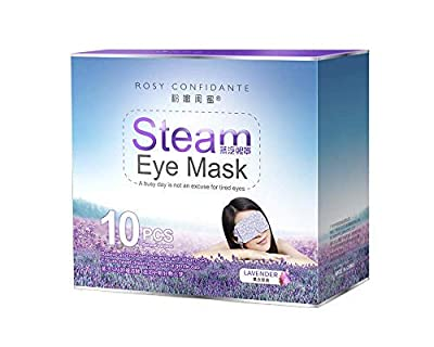Idealyuan Health Care Warm Steam Eye Mask for Dry Puffy Fatigue Eyes with Lavender 10 Packs