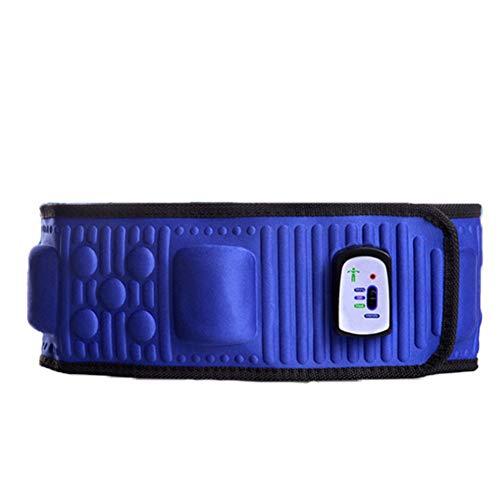Wsaman Fibra De Carbono Cintura Entrenador Ergonómico Diseño, Cinturón Calefactor Ajustable de Cintura portátil, para Dismenorrea/Dolor De Espalda/Dolor De Estómago,Azul
