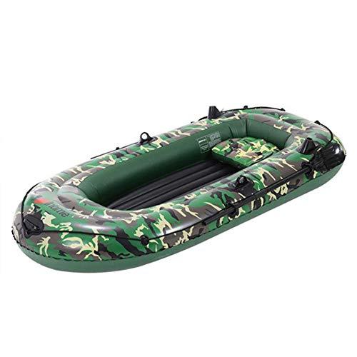 getherad 10ft 2/3/4 Kit de bateau gonflable Explorer gonflable avec pompe à pied et corde de sécurité et accessoires supplémentaires Capacité de poids 525/700 livres 3 personnes.