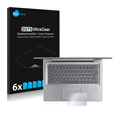 """savvies Protection Ecran Compatible avec Lenovo IdeaPad 530s (14"""") Touchpad (6 Pièces) - Film Protection Ultra Clair"""
