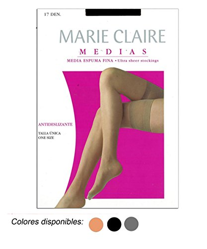 MARIE CLAIRE - MEDIA ANTIDESLIZANTE mujer color: NEGRO talla: talla única