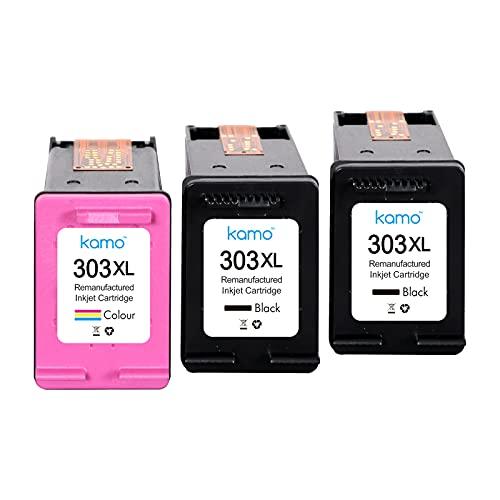 Kamo Cartuchos de tinta 303XL compatibles con HP 303 303 XL; Tango, Tango X, Envy Photo 6220, 6230, 6232, 6234, 7130, 7134, 7830 (2 negro, 1 color)
