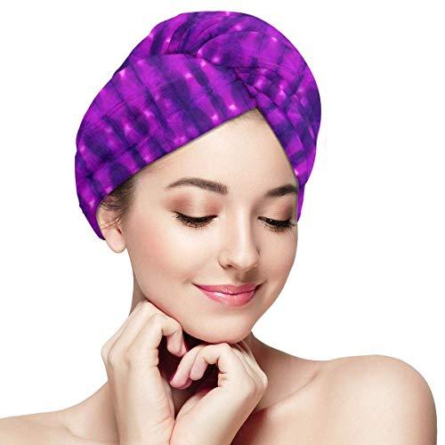 GYTHJ Serviette de Cheveux en Microfibre Wraps pour Femmes Mignon Bonbons traite Séchage Rapide Anti-frisottis Tête Turban Super Absorbant Doux
