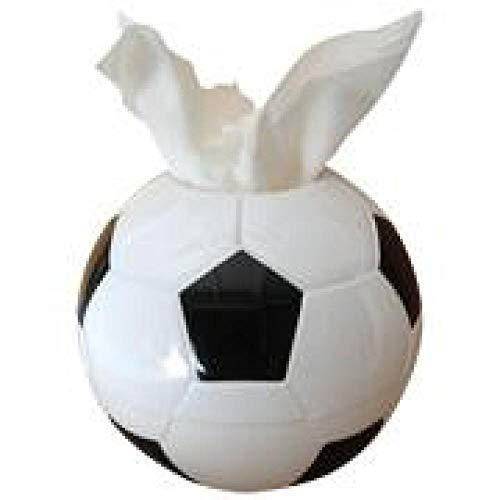 LIUJUAN Caja De Pañuelos Rubik Toalla De Papel De Fútbol Creativo para El Hogar/Caja De Pañuelos De Cilindro De Tejido 17 * 10 * 17 Cm-Blanco