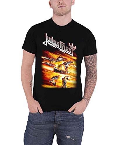 rrt Judas Priest T Shirt Firepower Album Band Logo Mens Black,Camicie e T-Shirt(XX-Large)