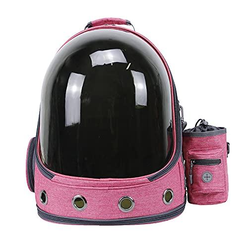 ZTLY Bolsa de Espacio para Mascotas, Bolso de Gato, Mochila de Gato Transparente Transpirable, salga de la Bolsa de la Cabina, Perro y Gato,Rosado