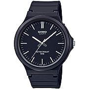 Casio Classic Quartz Watch with Resin Strap, Black, 21.45 (Model: MW-240-1EVCF)