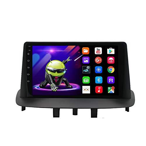 Apto para Renault Megane 3 Androide Estéreo Automóvil Radio Jugador 9 pulgadas IPS Pantalla Táctil Navegacion GPS Bluetooth Unidad Principal Apoyos Wifi Control Telefónico