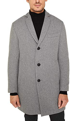 ESPRIT Herren 129EE2G004 Mantel, Grau (Grey 5 034), X-Large (Herstellergröße:XL)