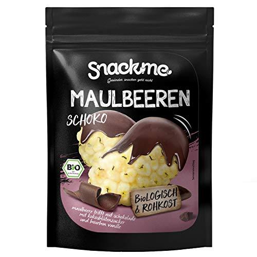 Bio schokolierte Rohkost vegane Kakao Schoko Maulbeeren Früchte Beeren Snack 500g Criollo Schokolade mit Kokosblütenzucker laktosefrei