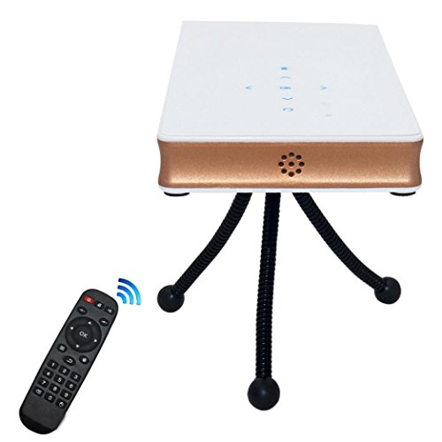 Projector, Franterd Multimedia Portable DLP Mini Projector HD1080P Mobile Intelligent Home Theater