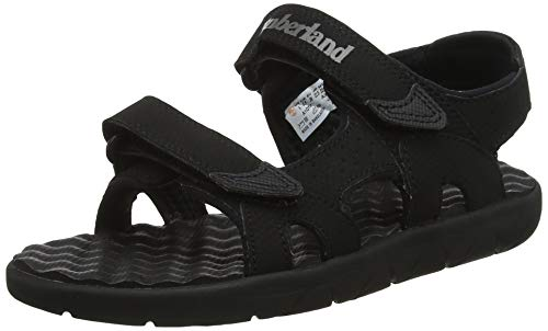 Timberland Perkins Row 2-Strap, sandale junior Descubierta Unisex niños, Negro (Black), 36 EU