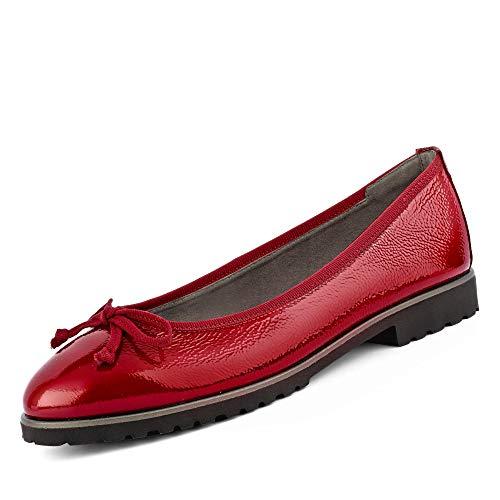 Paul Green 2698 Damen modischer Ballerina aus Lackleder Lederinnenausstattung, Groesse 41, rot