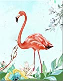 LEIWUQIZ Pintura al óleo DIY por Numbersmural Animal Flamingo Adultos Niños Pintura Digital Set Decoración Regalos 40X50Cm