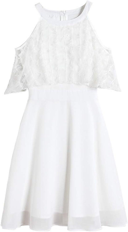 MSNZS Dresses Embroidered ALine Skirt ShortSleeved Gauze