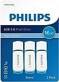 philips pen drive 16gb usb 2.0 fm16fd70e confezione da 3 pezzi pendrive chiavetta chiavina pennina ad altà velocità 16 gb con cappuccio e portachiavi