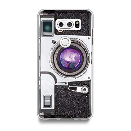HüllesByLorraine Kompatibel mit LG V30 Hülle, [für Männer & Frauen] Vintage Stil Kamera Flexible TPU Soft Gel Schutzhülle für LG V30 / LG V30 Plus/LG V30S ThinQ