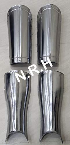 Nautical Replica Hub Medieval Knightly Armor Leg Guard Set 18g Mild Steel Functional Bracers