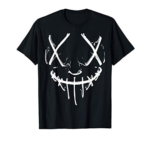 Cara de terror con óptica de purga Camiseta
