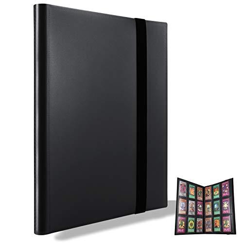 MUROAD Classeur pour cartes à collectionner, Porte cartes rangements pour 360 cartes, Compatible avec pokemon cartes (Noir)