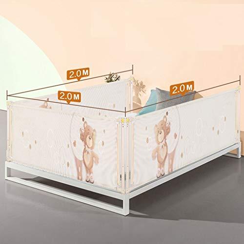 LBBL Extra hoog Bed Rail Grote Bed Rail Kinderveiligheid Bed 6 Bestanden Verticale Lifting Aanpassing Guard Slaap Beveiliging Bed Rails Peuter Bed Guard Stapelbed Eenpersoonsbed Guard 200x200cm