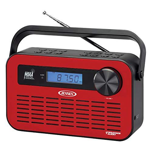 JENSEN JEP-250 Portable Digital AM/FM Weather Radio with Weather Alert