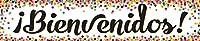 Confetti Bienvenidos (スペイン語歓迎) バナー