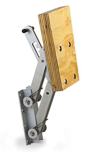 wellenshop Motorhalter Boot Außenborder bis 15 PS 4 Positionen Aluminium Holz