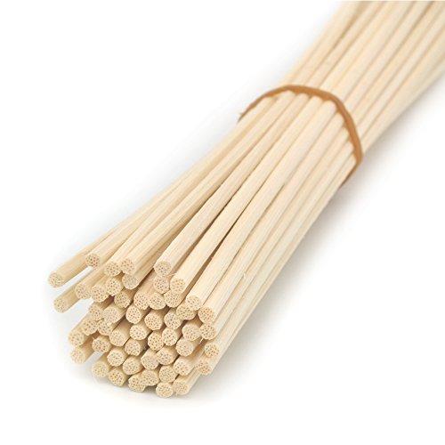 Ougual 100 Pezzi Rattan Reed diffusore Bastoncini di Ricambio, Natural Color (30cm*3mm)