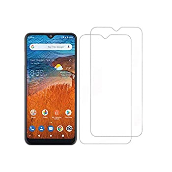 [2-Pack] Tznzxm Screen Protector for Consumer Cellular ZMax 10 Tempered Glass,Tempered Glass for ZTE Z6250 Screen Protector,Case Friendly 9H Hardness HD Anti-Scratch Bubble Free Film for ZTE ZMax 10