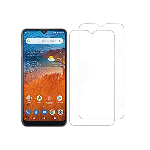 [2-Pack] Tznzxm Screen Protector for Consumer Cellular ZMax 10 Tempered Glass,Tempered Glass for ZTE Z6250 Screen Protector,Case Friendly 9H Hardness HD Anti-Scratch, Bubble Free Film for ZTE ZMax 10