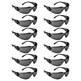 Malta Dynamics Tinted Safety Glasses, One Size, Anti-Scratch, UV Resistant, Impact Resistance (12 Pack), ANSI Impact Rated