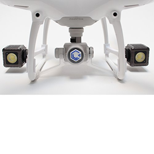 Lume Cube - Lighting Kit for DJI Phantom 4 Pro/Advanced Drone (White) (Includes 2 Lume Cubes + 2 Mounts + Zipper Case)