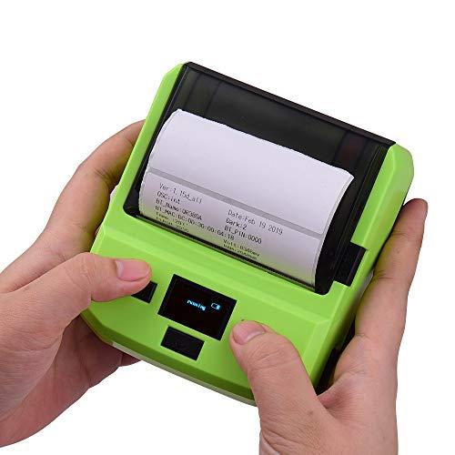 Aibecy 80mm BT Thermodrucker Barcode Drucker Etikettendrucker Maschine Mini Bondrucker Quittung Bill Ticket Drucker mit Akku Display USB Kabel für Android iOS Windows
