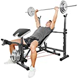 Hicient Olympic Weight Bench for Full Body Workout, Multifunctional Adjustable Weight Bench for...