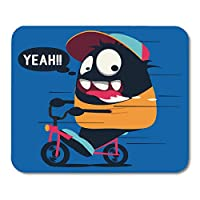 マウスパッド動物自転車キャラクターおかしいマウスマットの動物のカラフルなバイクモンスター