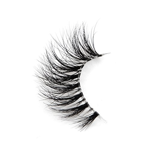 Arison Lashes 3D Mink Fur Fake Eye Lash Invisible Transparent Band False Eyelashes 100% Siberian Mink Pure Hand-made Natural Look for Makeup (1 Pair)