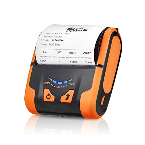 MUNBYN Android Bluetooth Thermal Printer, Portable 80MM Mini Mobile Receipt Printer with Carry Leather Belt Support Loyverse POS Software Supported ESC/POS