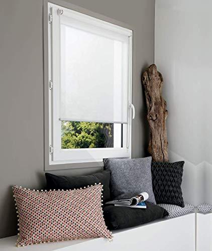 MADECOSTORE Store Enrouleur Voile Easy Must Tissu Mesh Uni Blanc - L70 x H190cm - Sans perçage