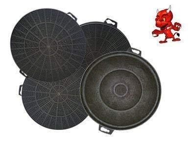 Mega Spar Set 4 filtres à charbon actif filtre FILTRE CHARBON POUR HOTTE HOTTE d'aspiration Constructa cd6715003