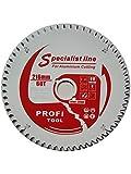 Profi-tool-germany Lame de scie HM 216 x 2,4 x 30 Z = 60 TF négative pour profilés en aluminium avec revêtement anti-adhésif