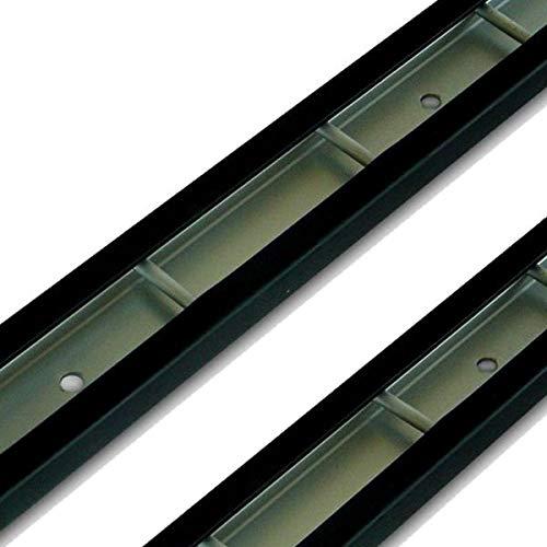 kuriershop Stäbchenzurrschiene mit Schutzprofil, Aluminium eloxiert, Länge 2 Meter im Doppelpack