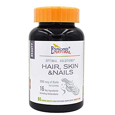 Esmond Natural: Hair, Skin & Nails (3000mcg of Biotin) 3000mcg, 60 Coated caplets