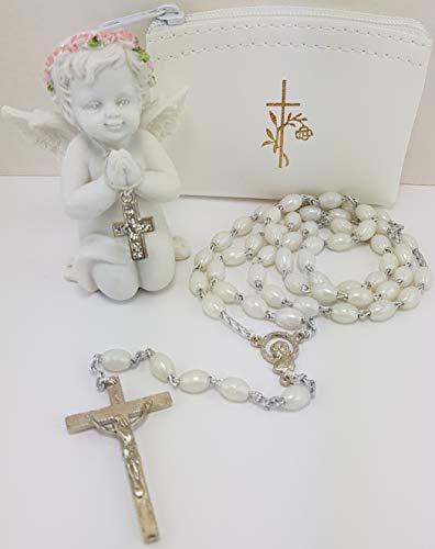 Christshop Kommunion Rosenkranz Sortiment mit betendem Schutzengel