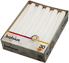 Bolsius White Dinner Candles – Burning 7.5 Hours – Smokeless 10-inch Tall Burning..