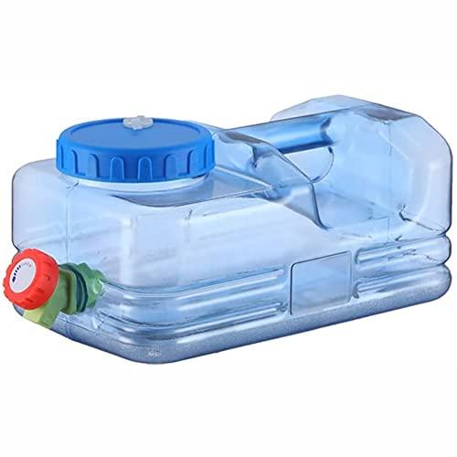 2021 Nuevo Jerrican de Comida para Acampar, Depósito de Agua Tipo Cubo con Grifo, Bote de Agua de Gran Capacidad con Asa, Hervidor de Agua de Grado Alimenticio, Botella de Agua Multifuncional