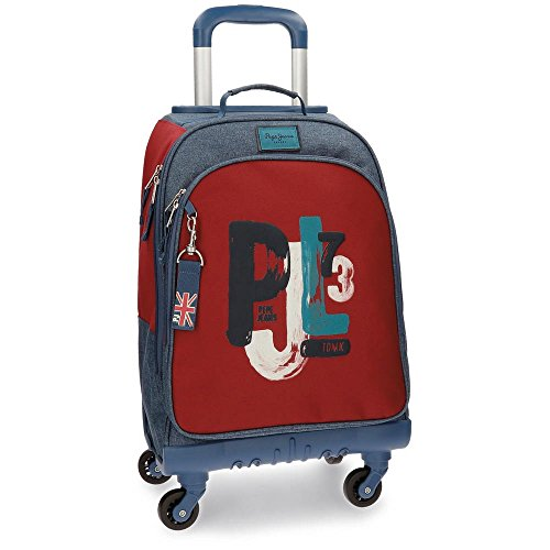 Pepe Jeans James Mochila Escolar, 44 cm, 30.49 Litros, Multicolor