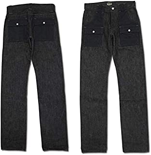 (エイトジー) EIGHT-G ブラックカラーブッシュパンツ 8WK-07